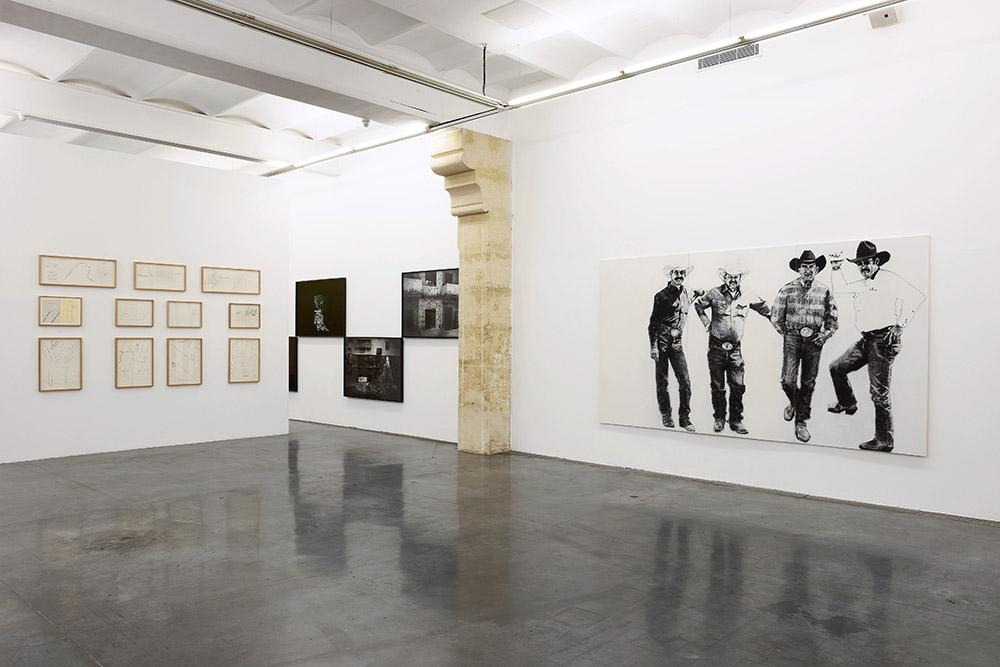 Vue de l'exposition Nouveaux territoires de l'image, 18 mars - 18 avril 2015 au Frac LR. Photo Pierre Schwartz