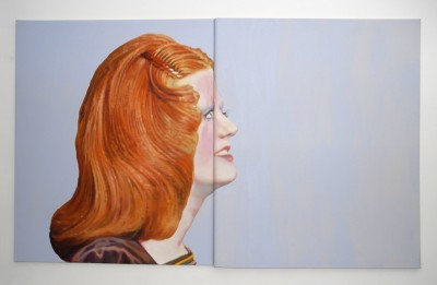 Nina Childress, Red Hair, 2004, huile sur toile. Collection Frac Languedoc-Roussillon