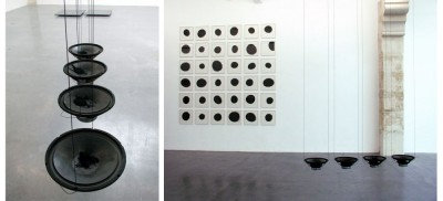 Rolf Julius, Four Large Black, 2004 installation sonore. Collection Frac Languedoc-Roussillon